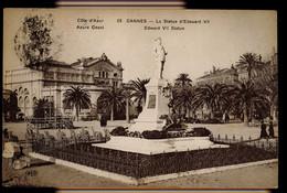 CPA ALPES MARITIMES CANNES N°29 LA STATUE D'EDOUARD VII ELD 1923 LE DELEY PARIS - Cannes