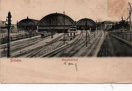 Carte Postale Ancienne - Circulé - ALLEMAGNE - SAXE - DRESDEN - La Gare  - *** 2ième Choix - Dresden