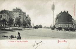 SAINT-GILLES-ENTREE DU PARC-(AVENUE ALBERT) -attelage De Chien-poteau Télégraphe - St-Gilles - St-Gillis