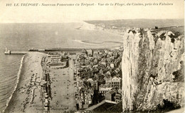 CPA -  LE TREPORT -  NOUVEAU PANORAMA , VUE DE LA PLAGE, DU CASINO (ETAT PARFAIT) - Le Treport