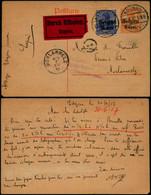 DEL039 - Entier Par Exprès De Edegem à Morlanwelz 1917 - Altre Lettere