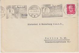 DR - Mannheim 1929 Schiller 150 J. Nationaltheater Masch.werbestempel Brief N. - Cartas