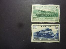 FRANCE, Année 1937, YT N° 339 Et 340 Neufs MH*, Locomotives - Ongebruikt