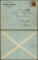 DEL050 - Lettre  De Fumay ( France  ) à Bruxelles 1917 Ardoisières De L'espérance - Altre Lettere