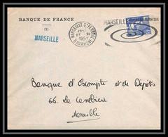 108313 Lettre Cover Bouches Du Rhone N°883 Gandon 1951 Marseille Saint Ferréol Secap Le Port Qui Progresse - 1921-1960: Periodo Moderno