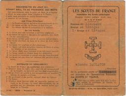 87 LIMOGES 3 EME GROUPE CARTE LES SCOUTS DE FRANCE - Scouting
