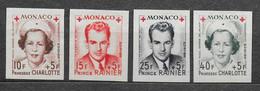 MONACO 1949 - 334A/337A** NON DENTELES - IMPERF - Blocks & Sheetlets