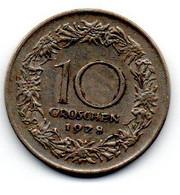 Autriche -  10 Groschen 1928 - TTB - Austria