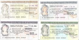 MINIASSEGNI - BANCA PROVINCIALE LOMBARDA Associazione Esercenti Commercianti Provincia Bergamo £.50-100-150-200 - [10] Cheques Y Mini-cheques