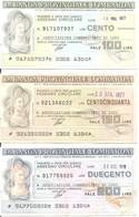 MINIASSEGNI - BANCA PROVINCIALE LOMBARDA Associazione Commercianti Di Lodi £.100-150-200 - [10] Cheques Y Mini-cheques