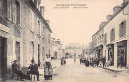 GOUZON ( La Creuse Pittoresque )  - Rue Du Centre , Animée - Otros Municipios