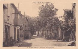12 - AVEYRON - SAINT VICTOR - Avenue De Saint Affrique - Très Bon état - Saint Victor