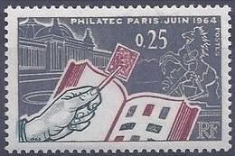 France - YT 1403 (1963) - Exposition Philatélique Internationale PHILATEC 1964, à Paris. Le Grand Palais. - Nuevos