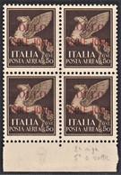 ITALIA REGNO 1941 ISOLE JONIE  RARA QUARTINA C.50 P.A. MNH ** SPLENDIDA E PERFETTA CENTRATURA OTTIMA - Isole Jonie