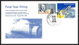 1770 Espace (space Raumfahrt) Lettre (cover Briefe) USA Discovery Shuttle (navette) Sts-26 18/8/1988 FINAL TEST FIRING - Estados Unidos