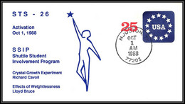 1779 Espace (space) Entier Postal (Stamped Stationery) USA Discovery Shuttle (navette) Sts-26  Activation 1/10/1988 - Estados Unidos