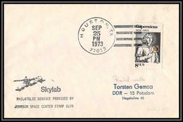 2249 Espace (space Raumfahrt) Lettre (cover Briefe) USA Skylab 3 Sl-3 Landing 25/9/1973 Copernicus Copernic Copernico - Estados Unidos