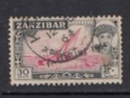 1964 Zanzibar 30c Sailing Dhow Definitive Local JAMHURI Overprint SG399 VF CDS USED - Zanzibar (1963-1968)