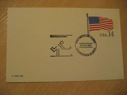 USA Indianapolis 1987 Olympic Games Field Hockey Hierba Grass Gazon Cancel Postal Stationery Card - Hockey (Field)