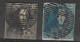 OCB Nr 1/2 Roi Koning King Leopold I Epaulette - See Scan - 1849 Epaulettes