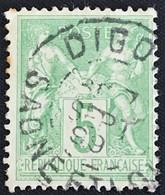 YT 106 (°) 1898-1900 SAGE CaD Digoin Saône-et-Loire (type II) 5c Vert Jaune 7.9.1899 – B2otti - 1876-1898 Sage (Type II)