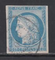 1872-77 Yvert Nº 23,  25 C. Bleu, - Ceres