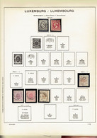 Collection, à P. No.1,( No 2 Faux) Intellect. 10+20 Fr. / Maj. Oblit. + */** (1852-1958 +4 FDC.) - Sammlungen