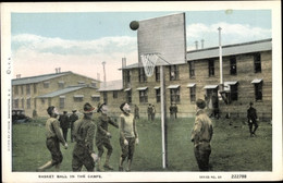 CPA Basket Ball In The Camps, US Amerikanische Soldaten - Ohne Zuordnung