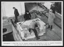 1927  --  PAQUEBOT ROCHAMBEAU . NEW YORK DECHARGEMENT DE L OR FRANCAIS . 3U274 - Non Classificati