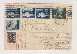 CROATIA WW II ZAGREB 1942 Censored Postal Stationery To Portugal - Croatia