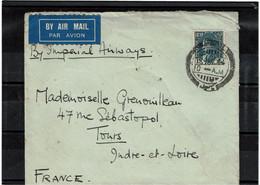 CTN64- IRAQ 15f SUR LETTRE AVION DU 13/12/1934 - Irak