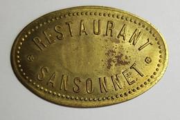 Restaurant Sansonnet (Paris) - 10 Centimes - Monetary / Of Necessity