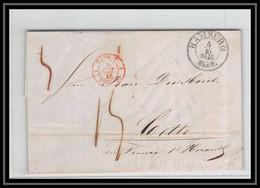 41242 Lettre LAC Allemagne Deutschland Hamburg Tour-T Strasbourg 1845 Cette France Marque D'entree Vorlaufer - [1] Precursores
