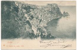 """2c.862.  SCILLA - Reggio Calabria - Annullo Ambulante """"Piroscafo Postale Italiano 190(?)"""" - Altre Città"""