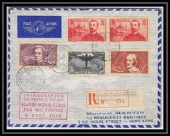 41774 Hanoi Vietnam Hong Kong Chine China Air France 1938 N° 321 ATLANTIQUE Aviation Poste Aérienne Airmail Lettre Cover - 1927-1959 Covers & Documents