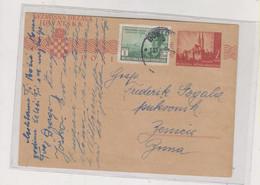 CROATIA WW II 1943 BJELOVAR Nice Postal Stationery ,legions In Russia - Croatia
