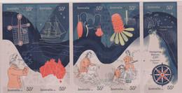 AUSTRALIA, 2020, MNH , NAVIGATING HISTORY, ENDEAVOUR VOYAGE, CAPTIAN COOK, SHIPS, FLOWERS, NATIVES, 10v, S/A Ex. BOOKLET - Explorers