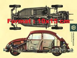 Reproduction Photographied'une Publicité Ancienne Volkswagen Coccinelle - Reproductions