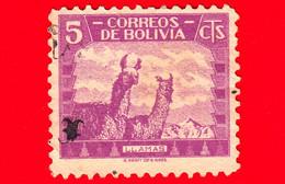 BOLVIA - Usato - - 1939 - Fauna - Animali - Cammelli - Llama (Lama Glama) - 5 - Bolivië