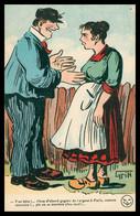 GRIFF - T'es Bête ! T'iras D'abord Gagner De L'argent à Paris ... On Se Mariera ! - Imp. Edit. BROCHERIOUX Série N° 171 - Griff