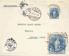 Ausland Brief  Genève -  Bourges F          1905 - Briefe U. Dokumente
