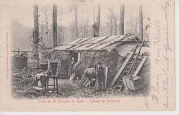CPA Précurseur Forêt De Saint-Germain-en-Laye - Cabane De Bucheron (avec Animation) - St. Germain En Laye