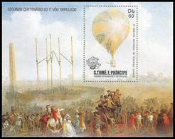 Sao Tome E Principe 088 N° 837 Mongolfiere Ballon Cote 9.5 ** MNH - Sao Tome And Principe