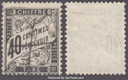40c Taxe Duval Oblitéré TB  (Y&T N° 19 , Cote: 70€) - 1859-1955 Gebraucht