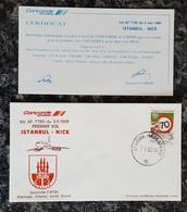 CONCORDE - Vol AF 7780 Du 3 Mai 1988 – ISTANBUL – NICE Avec Certificat - Concorde