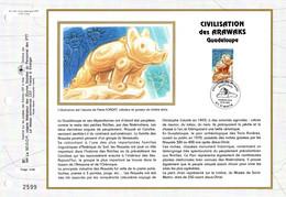""""""" CIVILISTION DES ARAWAKS """" Sur Feuillet CEF 1er Jour N°té Sur Soie De 1996. N° YT 2988 Parf état FDC - Non Classificati"""