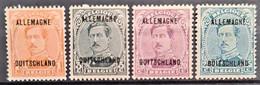 BELGIAN OCCUPATION IN GERMANY 1919-21 - MLH - Sc# 1N1, 1N3, 1N7, 1N8 - [OC38/54] Occ. Belg. In Ger.