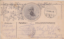 Feldpostkarte - Kaiser Franz Joseph - Feldkanonen Regiment No. 5 Nach Wien - 1915 (53499) - Briefe U. Dokumente