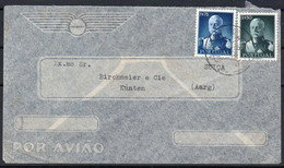Portugal - 1946 - Airmail Cover - From Villa Nova De Ourem To Kunten Switzerland - A4 - Unclassified