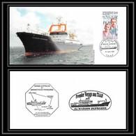 2350 ANTARCTIC Terres Australes TAAF Lettre Cover Dufresne 2 N°198 Kerguelen Premier Toucher 16/8/1995 - Storia Postale